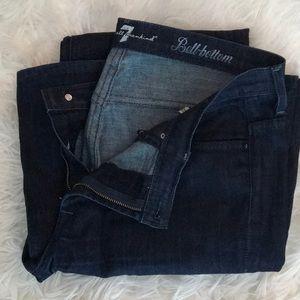 7 for all mankind dark wash denim jeans
